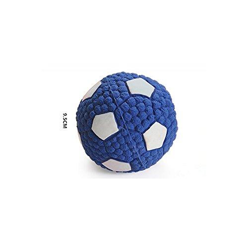 Sotoboo Quietschen Hundespielzeug, Soft Bouncing Latex mit quietschelement Floating Spielzeug Fußball Volleyball Tennis Rugby Fetch Überwurf Ball Kauen Spielzeug für Hunde Puppy