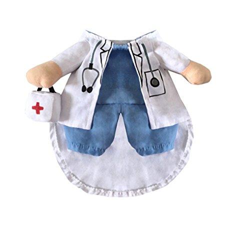 Dr.doggie Kostüm Lustige Hund Haustier Kleidung Anzug Klinik Arzt Dressing Up Party Bekleidung Bekleidung Für Hunde Welpen,XS (Arzt Kostüm Hund)