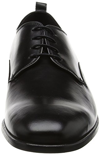 Bertie Herren Protons Derbys Schwarz (Black Leather)