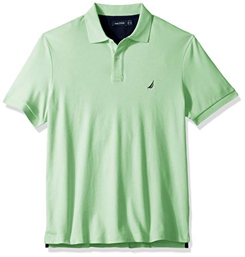 Nautica Herren Classic Fit Short Sleeve Solid Soft Cotton Polo Shirt Poloshirt, Ash Green, Groß -