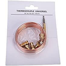 First4Spares Universal 1200mm Gas Thermocouple Kit with 5 Fittings, 120cm, Cookers