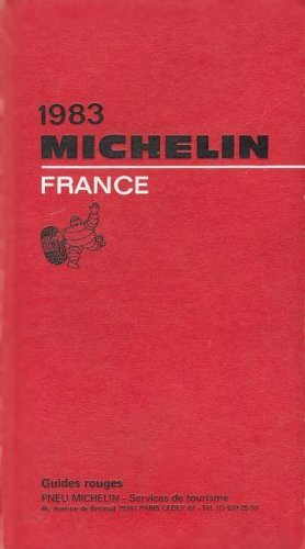 GUIDE MICHELIN ROUGE 1983