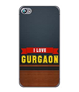 PrintVisa Designer Back Case Cover for Micromax Canvas Fire 4 A107 (Gurgaon City India Wooden Texture)