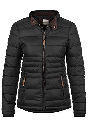BLEND SHE Cora Damen Steppjacke Winter-Jacke mit Stehkragen aus hochwertiger Materialqualität, Größe:L, Farbe:Black (70155)