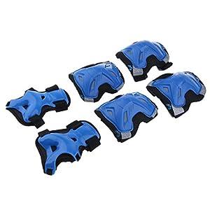 perfk Knieschützer, Ellenbogenschoner & Handgelenkschoner Set mit Verstellbarer Riemen für Kinder