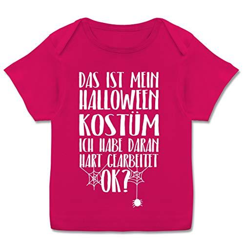 Anlässe Baby - Das ist Mein Halloween Kostüm - 68-74 (9 Monate) - Fuchsia - E110B - Kurzarm Baby-Shirt für Jungen und ()