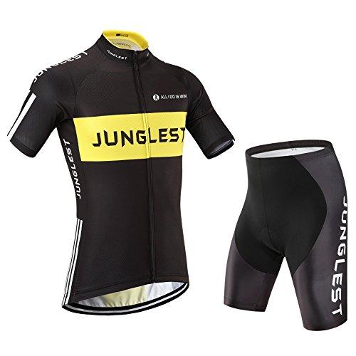 2015M [Type:Ensemble taille:M] avec courtes Maillot Manches et pantalon Homme Sports plein rembourré rapide de Vêtements cyclisme Cyclisme manches séchage cuissard Jerseys