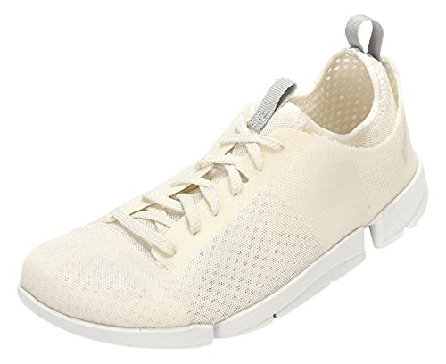 Clarks Tri Aerobic Damen Sneakers Weiß (White Synthetic)