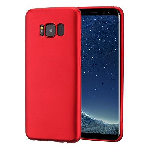 Vanki® Samsung Galaxy S8 Custodia Ultra Sottile TPU Silicone Protettivo Skin Case Cover Bumper Anti-Scratch Copertura Della Protezione Anti-urto shell Red