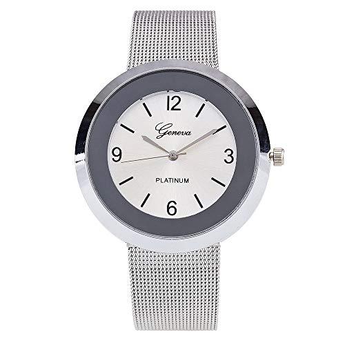 Frauen Geschäfts Metallband analoge Quarz Mode Armbanduhr YunYoud schmuck quadratisch datumsanzeige handuhr digitaluhr elegante glitzersteinen pilotenuhr schlichte uhr