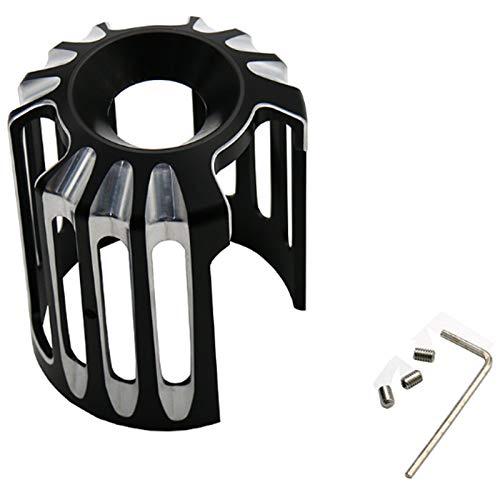 Nrpfell Coperchio Filtro Olio Moto Metallo CNC per Sportster Xl883 1200 48 Dyna Softail Touring Flhx CVO Macchina Nera Griglia Olio