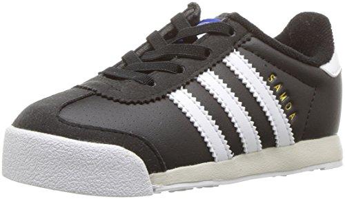 adidas Originals Boys' Samoa I Sneaker, Black/White/Talc, 5 Medium US Toddler (Adidas Toddler Sneaker)