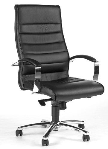 TOPSTAR Luxus- Chefsessel Leder schwarz