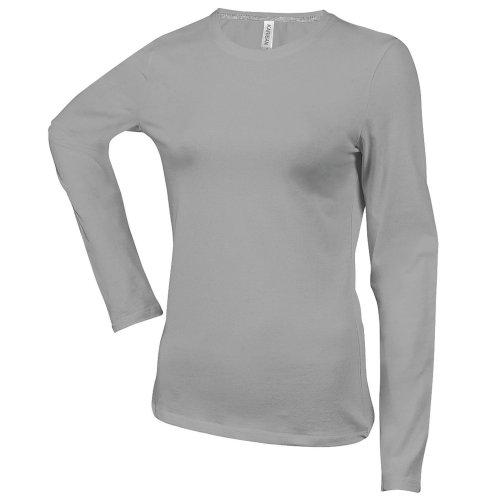 Kariban Damen Langarm T-Shirt mit Rundausschnitt Marineblau