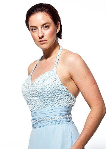 atopdress - Robe - Tour de cou - Sans Manche - Femme Bleu Bleu 36 Bleu