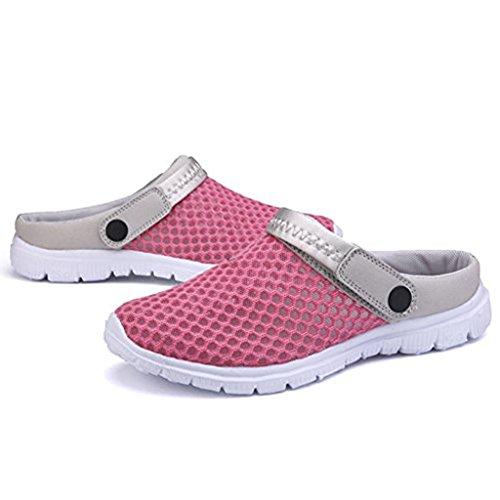 Anti Strand Sandalen Pantoletten Flach Breathable Mesh Schuhe Flach Pantoletten Herren Damen Unisex Rose