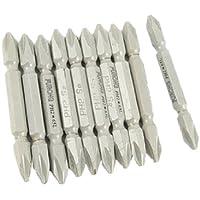 Sourcingmap - 10 pezzi grigio magnetico doppio fine ph2 bit di lunghezza 65 millimetri