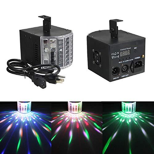 Vaycally Bühnenlicht, Effektlicht LED RGB DMX512 Für Tanzpartys Bar DJ Lichter RGB Buntes Blitzlicht Flexible Fernbedienung DMX-Steuerung Par Lights