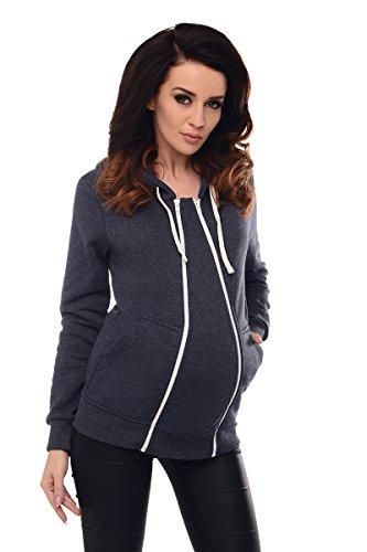 Purpless Maternity 3in1 Schwangerschaft und Pflege Kapuzenpullover 9053 (42 (UK 14), Navy Melange)