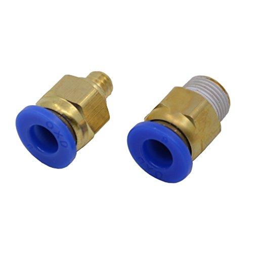 Reliabot pc6-01 e pc6-m6 connettori per 3mm filamento od6mm tubo in ptfe / teflon per estrusore di stampante 3d