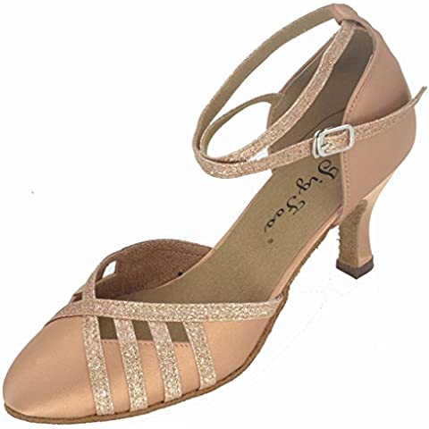 Jig Foo Mujer bombas zapatos de baile, mujer, canela