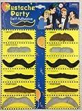 thematys 12x falscher Schnurr-Bart zum Ankleben schwarz braun - Kostüm für Erwachsene & Kinder - perfekt für Fasching, Karneval & Weihnachten - Universal Damen Herren