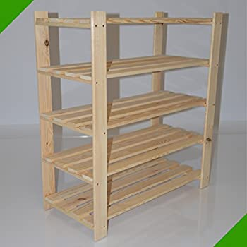 90 cm x 80 cm x 37 cm 5 b den kleines holzregal schuhregal regal baumarkt. Black Bedroom Furniture Sets. Home Design Ideas