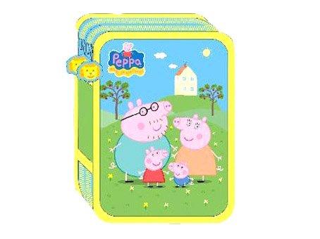 Plumier doble relleno Peppa Pig y familia
