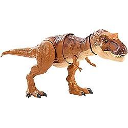 Jurassic World Superataque del Tyrannosaurus Rex, dinosaurio de juguete (Mattel FMY70)
