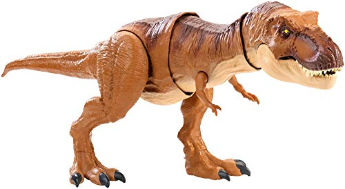 Mattel FMY70 - Jurassic World Schleuderaction Tyrannosaurus Rex, T Rex Dinosaurier Spielzeug ab 4 Jahren