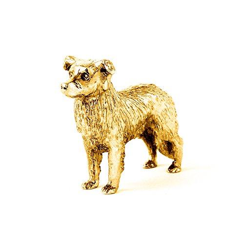Border Collie (al lavoro) Made in UK, Collezione Statuetta Artistici Stile Cani (con la placcatura d'oro 22