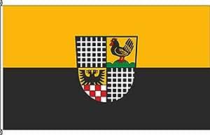 Tischfähnchen Untermaßfeld - Tischflaggenständer aus Chrom