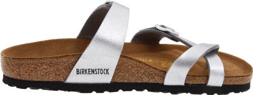 Birkenstock Classic Mayari Birko-Flor Unisex-Erwachsene Zehentrenner Silber