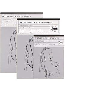 Skizzenblock Newspaper - DIN A4 - 100 Blatt - 49 g/m²