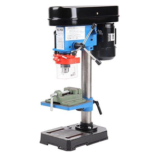 ICOCO ZJ4113 350W 13mm Säulenbohrmaschine Tischbohrmaschine Ständerbohrmaschine Bohrtiefe 50 mm 5 Geschwindigkeiten