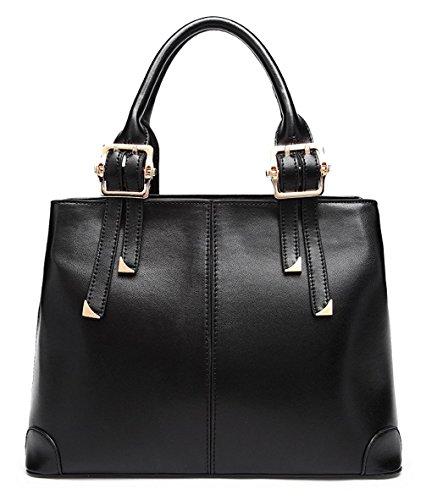 Keshi Pu Nouveau style - Sac à main femmes - Porté MAIN et EPAULE Noir