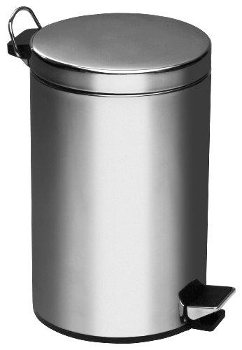 Premier Housewares Poubelle à pédale Inox 3 litres