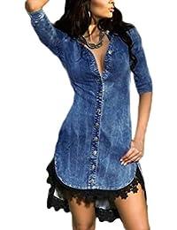 fb9e886d7443 Ovender® Vestiti Eleganti Corti Mini da Donna Ragazza Abito Vestito Donne  Ragazze Impero Formale Elegante