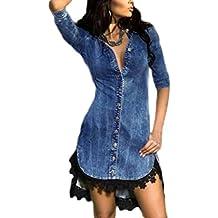 6229ff4b13c56a Ovender® Vestiti Eleganti Corti Mini da Donna Ragazza Abito Vestito Donne  Ragazze Impero Formale Elegante