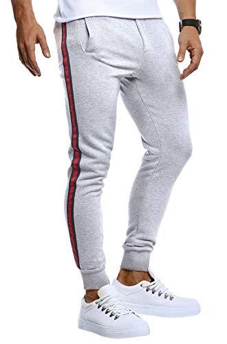 LEIF NELSON Pantaloni da Ginnastica da Uomo, per Il Tempo Libero, per Jogging, Moderni, da Uomo, per Fitness, Allenamento, Tempo Libero, Bodybuilding e Cargo Grau XL