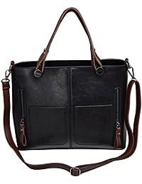 Yuan Black High Quality Women Elegant Female Bag New Double Pocket Design Oblique Messenger Square Shoulder Bag...