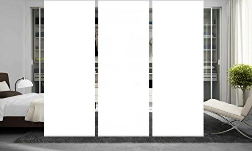 wohnfuehlidee 3er Set Raumteiler Deko blickdicht ROMINA weiß, Höhe 245 cm, 3 x weiß -