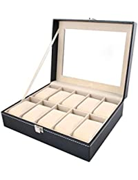 Iso Trade Caja ORGANIZADORA para 10 Relojes O BISUTERÍA, Elegante Caja para Guardar o exponer