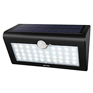 Albrillo Solar Lights LED Outdoor Security Lights Solar Powered with Motion Sensor, Waterproof IP65, 38 LEDs Super Bright, 3 Modes