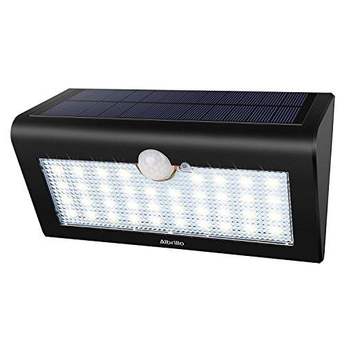 Albrillo LED Solarleuchten mit Bewegungsmelder - Superhelle 3 Modi Solarlampe mit 38 LEDs, IP65 Wasserdichte Außenlampen Solar Wandleuchte für Gärten, Türe, Flur, Auffahrt[Energieklasse A++]