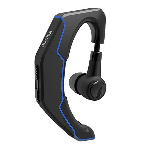 Headset Handy Frei Hände (Wireless Bluetooth Headset Kopfhörer Universal Bluetooth Ohrhörer einseitiges Bluetooth Headsets mit Mikrofon für Handy Smartphones, Android, PC und andere Bluetooth Geräte (Schwarz&Grau))