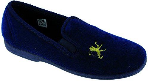 Mirak Boys Spider Warminster Fuzzy Lined Web Pattern Slipper Navy Blau