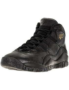 Nike Jungen Black-Drk Grey-Mtllc Gld Basketballschuhe