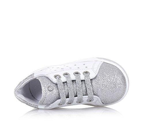 973aa87d3c6b FALCOTTO Weißer Schuh mit Schnürsenkeln aus Leder und Glitzern ...