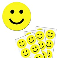 5cm Yellow Smiley Happy Face Stickers - Pack of 240